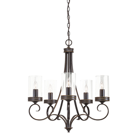 display product reviews for diana 25 in 5 light olde bronze williamsburg clear glass - Kichler Dining Room Lighting
