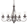 Kichler Lighting Diana 35.98-in 6-Light Olde Bronze Clear Glass Standard Chandelier