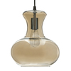 allen + roth 10.31-in W Aged Bronze Pendant Light with Tinted Glass Shade