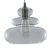 allen + roth 9.84-in W Brushed Nickel Pendant Light with Clear Glass Shade