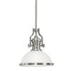 Portfolio 12.2-in W Pendant Light with Frosted Glass Shade