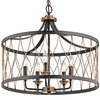 Kichler Lighting Brookglen Black and Suede Vintage Pendant Light with Shade