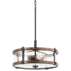 Kichler Lighting Barrington 18-in W Pendant Light with Seeded Shade