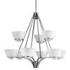 Portfolio 9-Light Daphne Brushed Nickel Chandelier