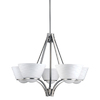 Portfolio 5-Light Daphne Brushed Nickel Chandelier