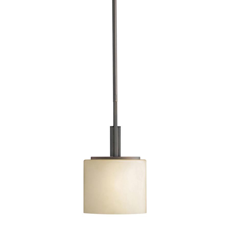 shop portfolio delavan w olde bronze mini pendant light with tinted glass shade at. Black Bedroom Furniture Sets. Home Design Ideas