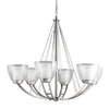 Portfolio 6-Light Lucia Brushed Nickel Chandelier