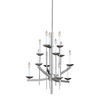 Portfolio 12-Light Spires Brushed Nickel Chandelier