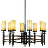 Portfolio 8-Light Millry Olde Bronze and Cashmere Chandelier