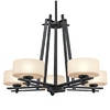 Portfolio 5-Light Natalia Distressed Black Chandelier