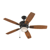 Harbor Breeze Melamby 48-in Oil-Rubbed Bronze Downrod Mount Indoor Ceiling Fan with Light Kit