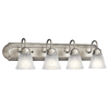 Portfolio 4-Light Aztec Brushed Nickel Bathroom Vanity Light