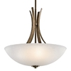 Portfolio 24-in W Coburn Olde Iron Pendant Light with Textured Shade