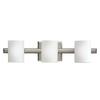 Portfolio 3-Light Tubes Brushed Nickel Bathroom Vanity Light