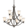 Portfolio 9-Light Wellington Square Olde Bronze Chandelier