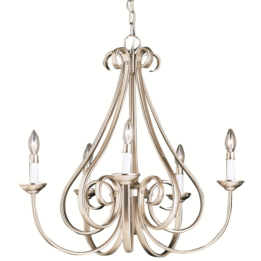 Shop Portfolio Dover Brushed Nickel Chandelier At