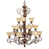 Portfolio 15-Light Cheswick Parisian Bronze Chandelier