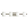 Portfolio 4-Light Tubes Brushed Nickel Bathroom Vanity Light