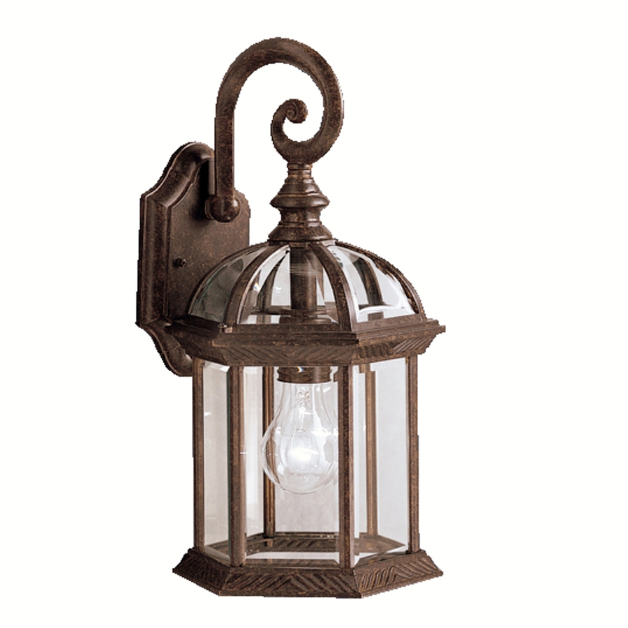 shop portfolio barrie 15 5 in h tannery bronze outdoor wall light at. Black Bedroom Furniture Sets. Home Design Ideas
