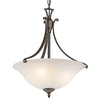 Portfolio 19-3/4-in W Wellington Square Olde Bronze Pendant Light with Frosted Shade