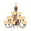 Portfolio 15-Light Aztec Lincoln Bronze Chandelier