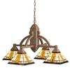Portfolio 4-Light Aztec Patina Bronze and Dore Bronze Chandelier