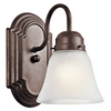 Portfolio Aztec Tannery Bronze Bathroom Vanity Light