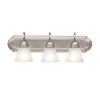 Portfolio 3-Light Aztec Brushed Nickel Bathroom Vanity Light