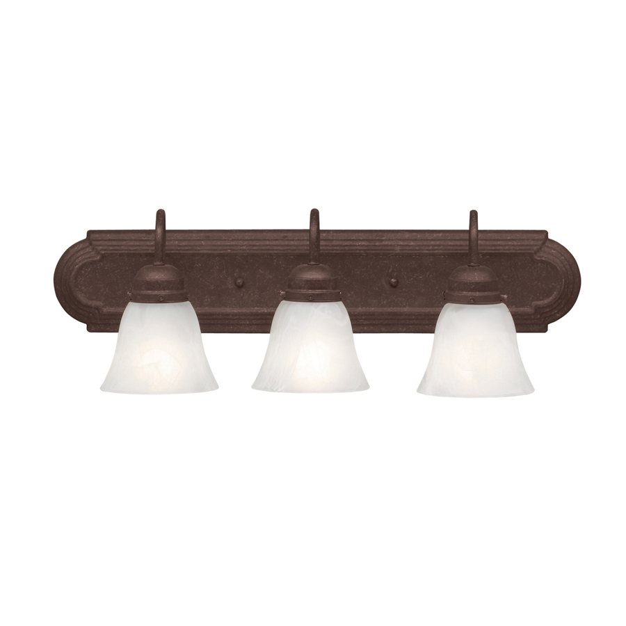 Lowes Vanity Lights For Bathroom : Shop Portfolio 3-Light Tannery Bronze Bathroom Vanity Light at Lowes.com