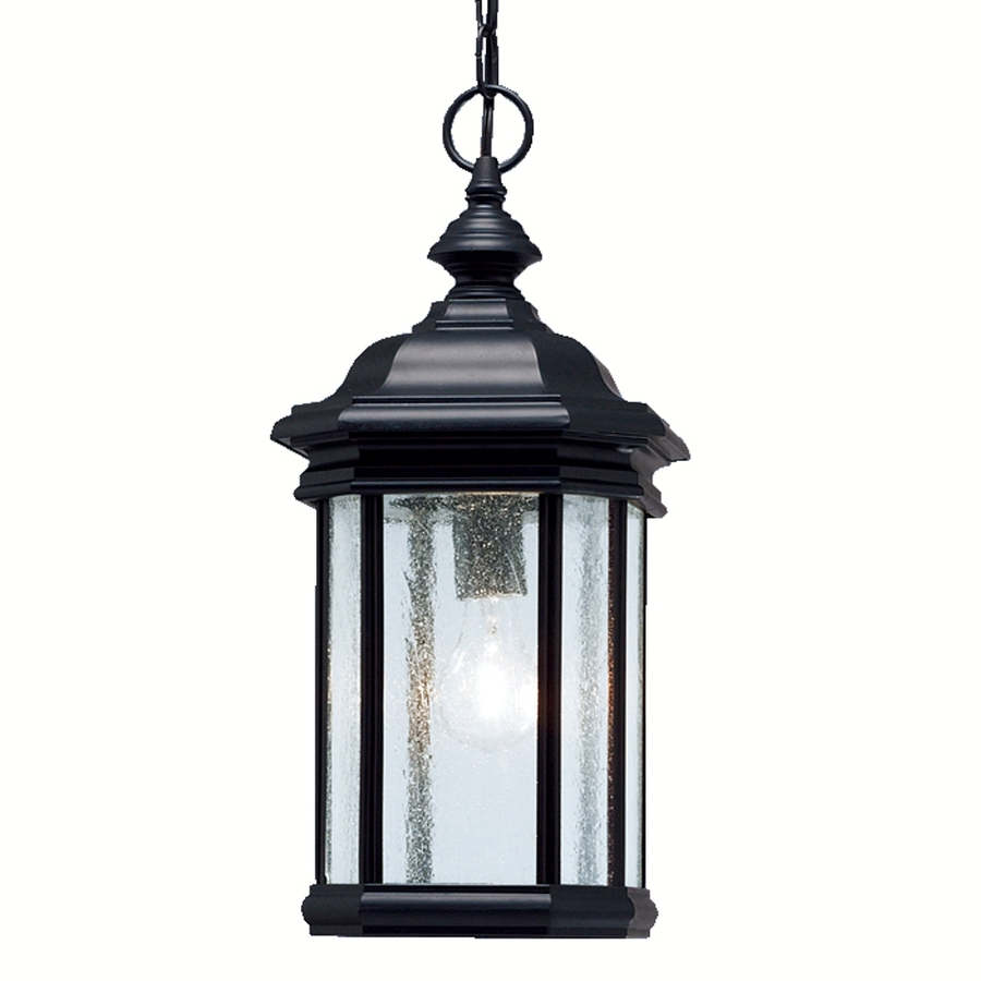 portfolio kirkwood 18 in h black outdoor pendant light at. Black Bedroom Furniture Sets. Home Design Ideas