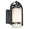 Portfolio Westport 10-1/2-in Black Outdoor Wall Light