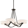 Portfolio 4-Light Glissade Olde Bronze Contemporary/Modern Chandelier