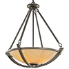 Portfolio 26-1/4-in W Carthage Olde Bronze Pendant Light with Frosted Shade