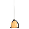 Portfolio 8-1/2-in W Carthage Olde Bronze Mini Pendant Light with Frosted Shade