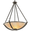 Portfolio 30-1/4-in W Carthage Olde Bronze Pendant Light with Frosted Shade