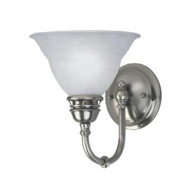 1-Light Pewter Arm Sconce