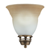Portfolio 8-in W Libbe 1-Light Antique Brass Pocket Wall Sconce