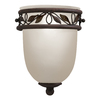 Portfolio 5-7/8-in W Aztec 1-Light Tannery Bronze Pocket Wall Sconce