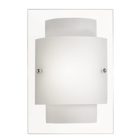 Portfolio 10-5/8-in W Aztec 1-Light Chrome Pocket Wall Sconce