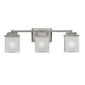 Shop Portfolio 3-Light Brushed Nickel Traditional Bathroom Vanity