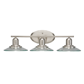 allen + roth 3-Light Galileo Brushed Nickel Bathroom Vanity Light