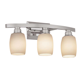 Portfolio 3-Light Kichler Chrome Bathroom Vanity Light