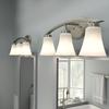 Portfolio 3-Light Lyndsay Brushed Nickel Bathroom Vanity Light