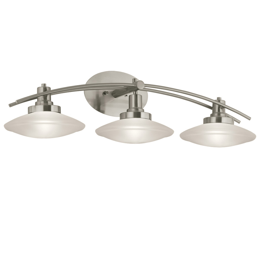 Bathroom Vanity Lights Images : Shop Portfolio 3-Light Brushed Nickel Bathroom Vanity Light at Lowes.com
