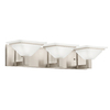 Kichler Lighting 3-Light Evanson Brushed Nickel Bathroom Vanity Light