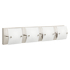 Kichler Lighting 4-Light Covero Brushed Nickel Bathroom Vanity Light