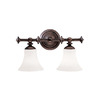 Portfolio 2-Light Olde Auburn Bronze Bathroom Vanity Light