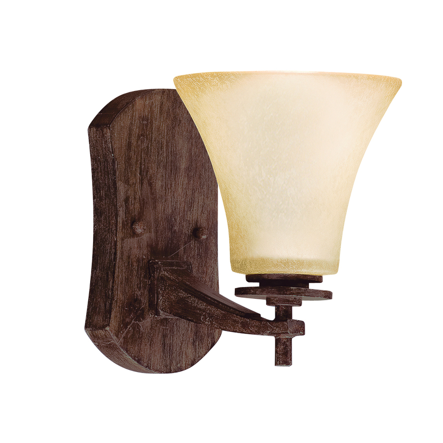 Shop Portfolio Ashton 6-in W 1-Light Canyon Slate Arm Hardwired Wall Sconce at Lowes.com