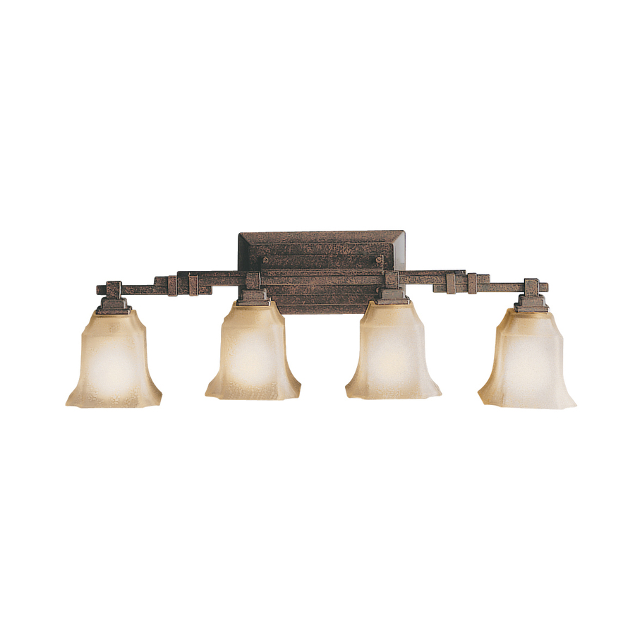 Vanity Lights For Bathroom Bronze : Shop Portfolio 4-Light Silverton Tannery Bronze Bathroom Vanity Light at Lowes.com