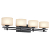 Portfolio 4-Light Distressed Black Bathroom Vanity Light
